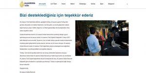 Al Jazeera Türk Yayınlarına Son Verdi