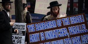 Ortodoks Yahudilerden Zorunlu Askerlik Protestosu