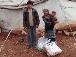 İMKANDER'den Varil Bombalarıyla Vurulan Bab'a Yardım