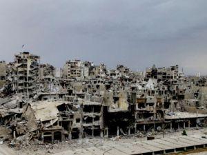 Humus'taki Yıkımdan Manzaralar
