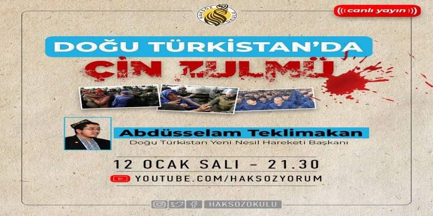 """Haksöz Okulu'nda """"Doğu Türkistan'da Çin zulmü"""" konuşuldu"""